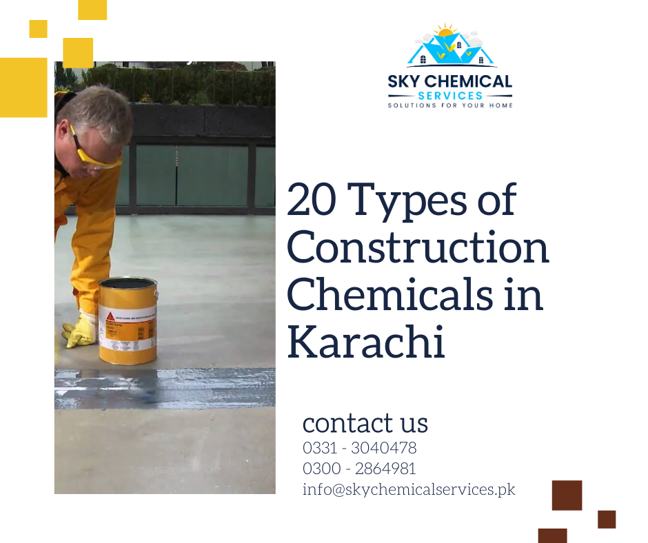 construction chemicals in Karachi | construction chemicals companies in karachi | construction chemicals companies in pakistan | pakistan construction chemicals pvt ltd | construction chemicals, list | sky chemical services
